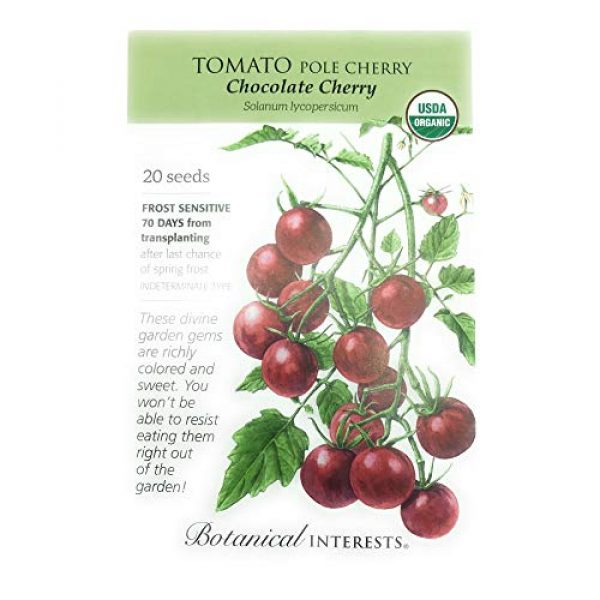 Botanical Interests Organic Seed 1 Botanical Interests, Seed Tomato Cherry Chocolate Organic