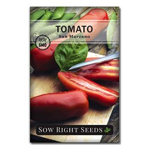 Sow Right Seeds Heirloom Seed 1 Sow Right Seeds - San Marzano Tomato Seed for Planting - Non-GMO Heirloom Packet with Instructions to Plant a Home Vegetable Garden - Great Gardening Gift (1)