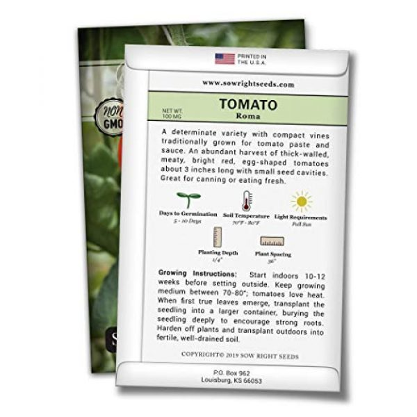 Sow Right Seeds Heirloom Seed 2 Sow Right Seeds - Roma Tomato Seed for Planting - Non-GMO Heirloom Packet with Instructions to Plant a Home Vegetable Garden - Great Gardening GIF (1)