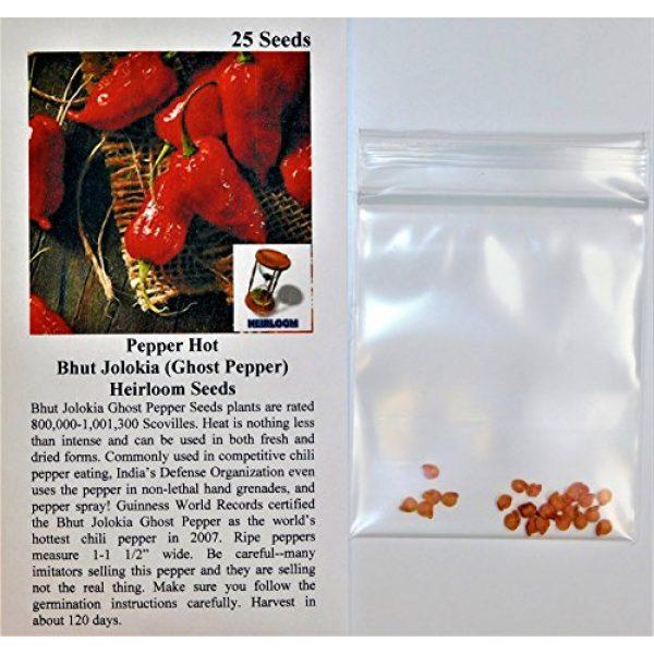 David's Garden Seeds Heirloom Seed 2 David's Garden Seeds Pepper Hot Bhut Jolokia (Ghost Pepper) SL2231 (Orange) 25 Non-GMO, Heirloom Seeds