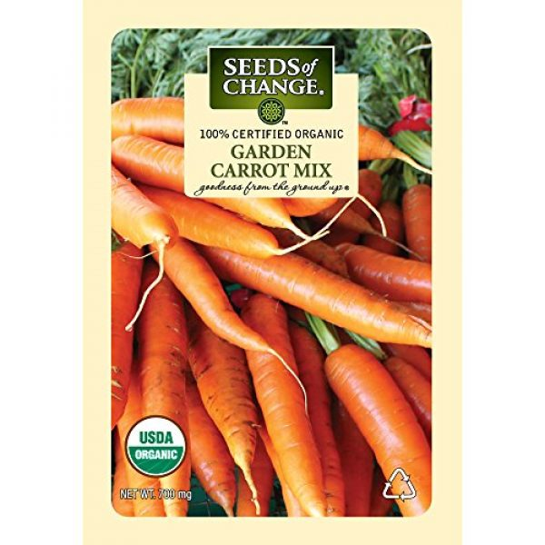 SEEDS OF CHANGE Organic Seed 1 Seeds of Change Certified Organic Garden Carrot Mix