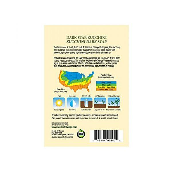 SEEDS OF CHANGE Organic Seed 3 Seeds of Change Certified Organic Dark Star Summer Squash Zucchini