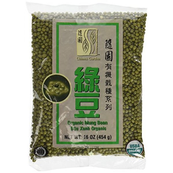 Chimes Garden Organic Seed 1 Chimes Garden Organic Mung Beans for Sprouting, Asian Cuisine & More, 16-Ounce Pouches