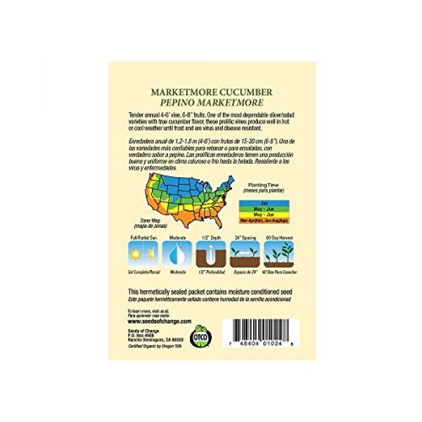 SEEDS OF CHANGE Organic Seed 2 Seeds of Change Certified Organic Marketmore Cucumber