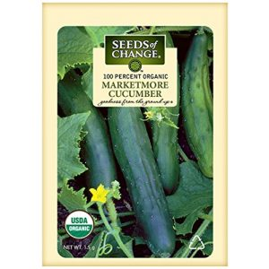 SEEDS OF CHANGE Organic Seed 1 Seeds of Change Certified Organic Marketmore Cucumber