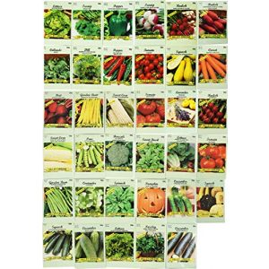 Black Duck Brand  1 Set of 35 Assorted Vegetable & Herb Seeds 35 Varieties Create a Deluxe Garden All Seeds are Heirloom