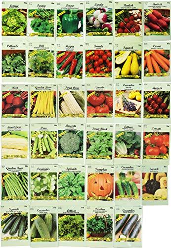 Black Duck Brand  1 Set of 35 Assorted Vegetable & Herb Seeds 35 Varieties Create a Deluxe Garden All Seeds are Heirloom