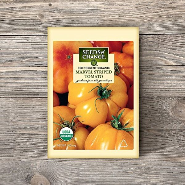 SEEDS OF CHANGE Heirloom Seed 2 Seeds of Change S10768 Certified Organic Marvel Striped Heirloom Tomato