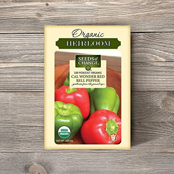 SEEDS OF CHANGE Organic Seed 2 Seeds of Change Certified Organic Cal Wonder Red Bell Pepper