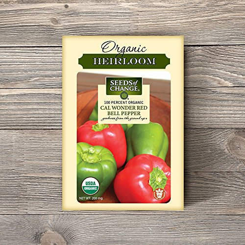 SEEDS OF CHANGE  2 Seeds of Change Certified Organic Cal Wonder Red Bell Pepper