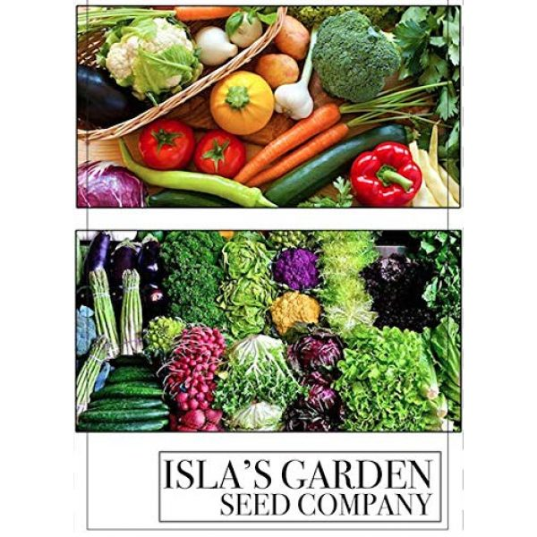 Isla's Garden Seeds Heirloom Seed 7 Lemon Cucumber Seeds,125+ Premium Heirloom Seeds,Fantastic addition to your home garden! Fresh & Delicious! Popular Choice! (Isla's Garden Seeds),Non Gmo,85-90% Germination Rates,Highest Quality Seeds