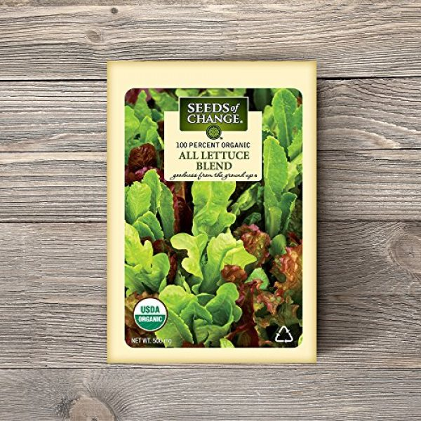 SEEDS OF CHANGE Organic Seed 2 Seeds of Change 05944 Certified Organic Seed, All Lettuce Mix