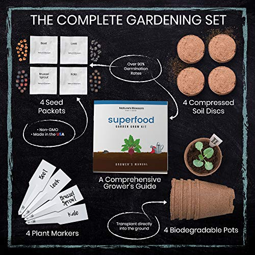 Beets & Leeks. Superfood Sprout Kit W/Soil