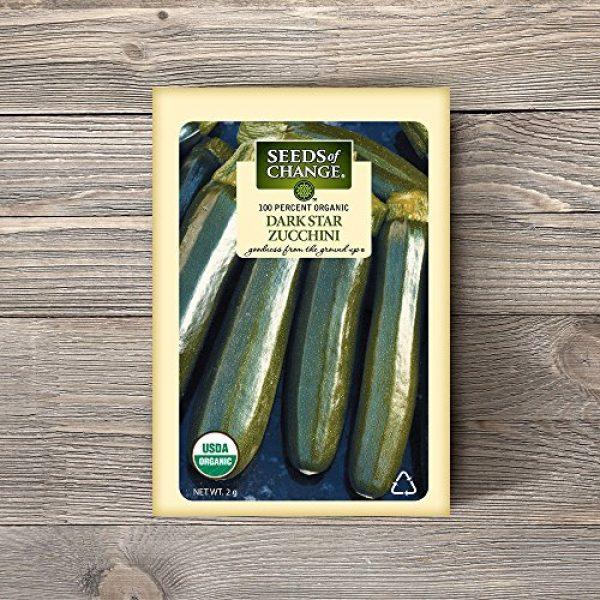 SEEDS OF CHANGE Organic Seed 2 Seeds of Change Certified Organic Dark Star Summer Squash Zucchini