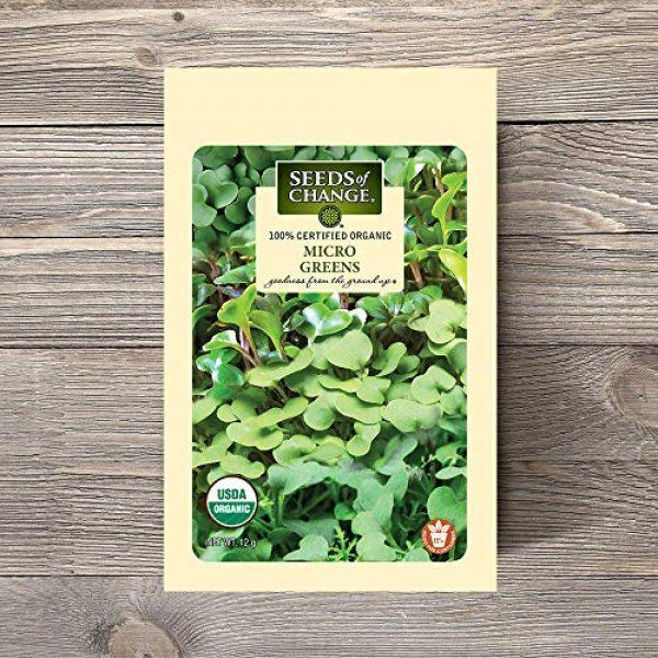 SEEDS OF CHANGE Organic Seed 3 Seeds Of Change 8215 Certified Mild Mix Microgreens, Organic, Seeds, Green