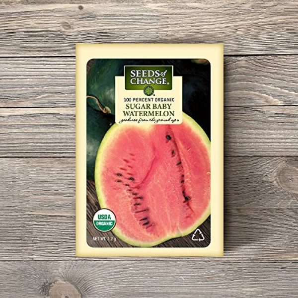 SEEDS OF CHANGE Organic Seed 2 Seeds of Change Certified Organic Sugar Baby Watermelon